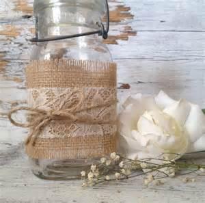 rustic jar centerpieces for weddings rustic wedding decor for 10 jars rustic centerpiece lace