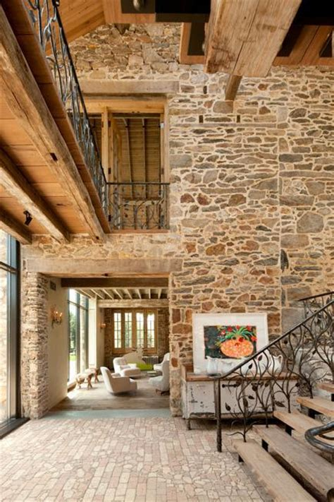modern redesign   country home  antique stone