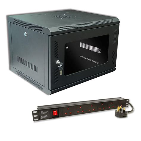 Pdu Cabinet by 6u 450mm Data Cabinet 6 Way Surge Protected Pdu At