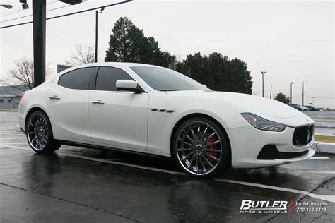 Maserati Rims by Maserati Ghibli Custom Wheels Savini Sv34 22x Et Tire