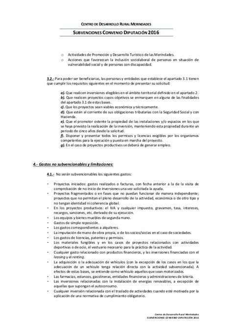 Convenio Gastronmico 2016 | bases reguladoras ayudas convenio diputaci 243 n 2016