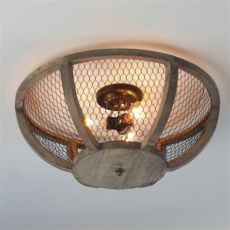Chicken Wire Basket Ceiling Light Small   Wire baskets