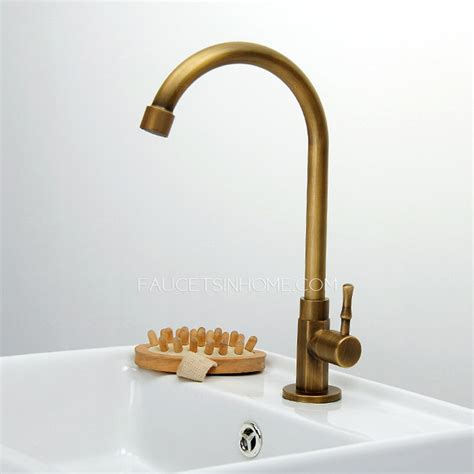 cheap antique brass rotatable bathroom sink faucet