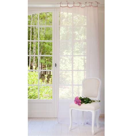 tende rosa tenda rosa lilla in lino con laccetti 105 x 300 cm