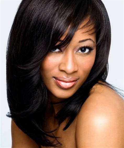 weave hairstyles with bangs medium weave hairstyles
