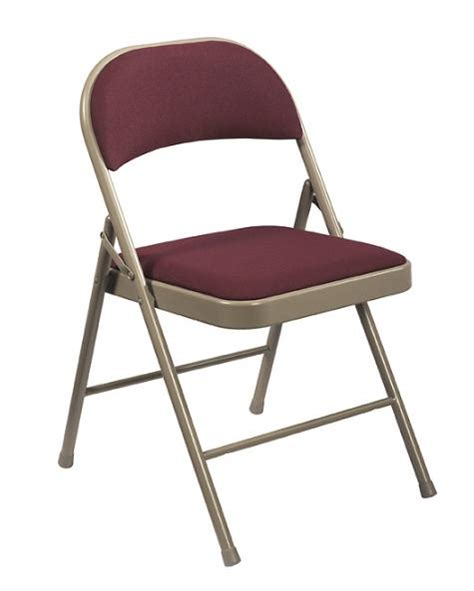 national seating fabric padded steel folding chair