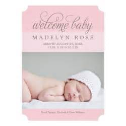 welcome baby photo birth announcement zazzle