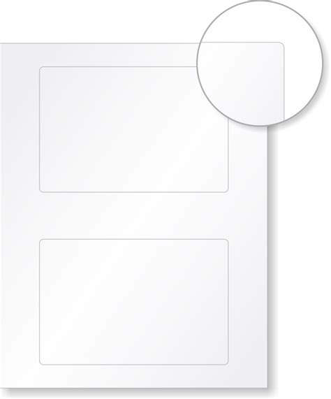 Printable Vinyl For Laser Printer   vinyl blank labels for laser printers 2 per sheet sku