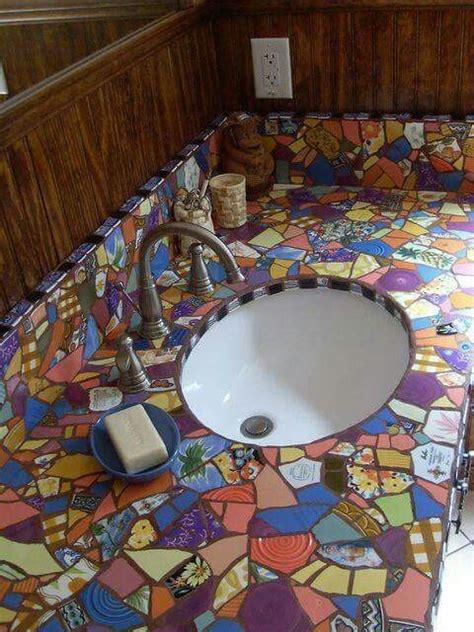mosaic bathroom countertop 1000 ideas about mosaic bathroom on pinterest kitchen