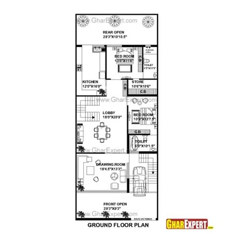 75 square meters in feet stunning house plan for 15 feet 25 feet plot plot size 42