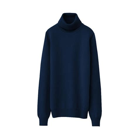 Uniqlo Sweater Navy by Uniqlo Polo Neck Sweater A In Blue Navy Lyst