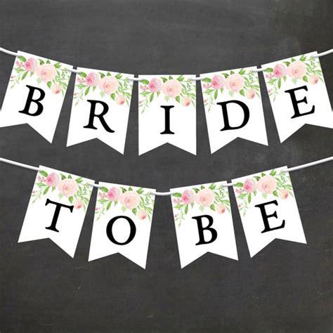 Bridal Shower Flag Banner by Watercolor Floral Bridal Shower Banner Diy Printable