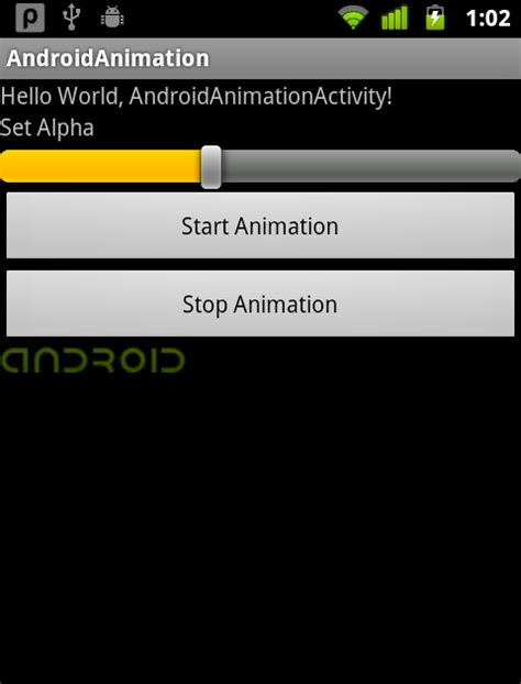 layout android alpha android er set alpha of animationdrawable