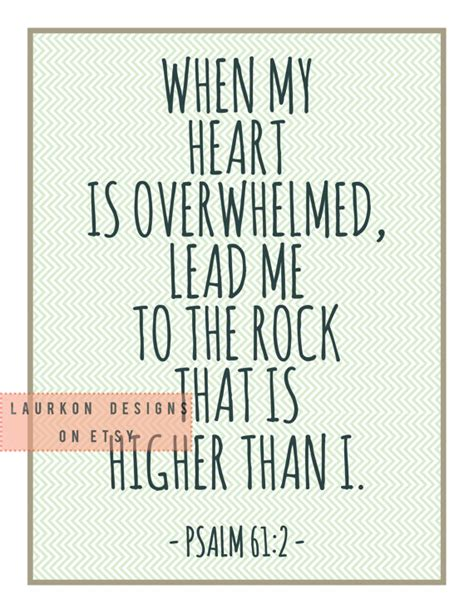 printable scripture quotes printable bible verse quot when my heart is overwhelmed lead