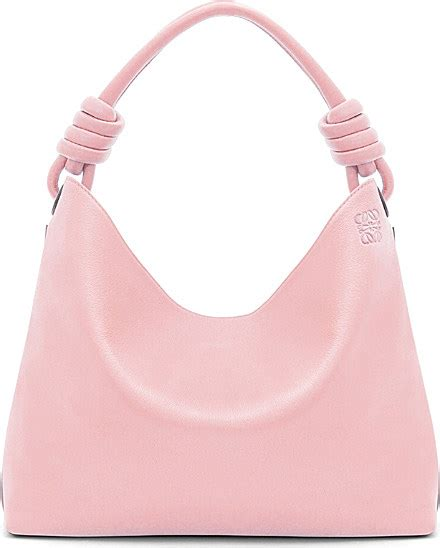 028d2ar Knot Handle Handbag Soft Pink loewe hobo leather tote bag small in pink lyst