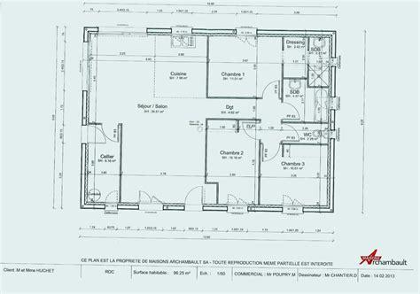 Echelle Plan Maison by Magnifique Plan Maison Gratuit Echelle 1 50