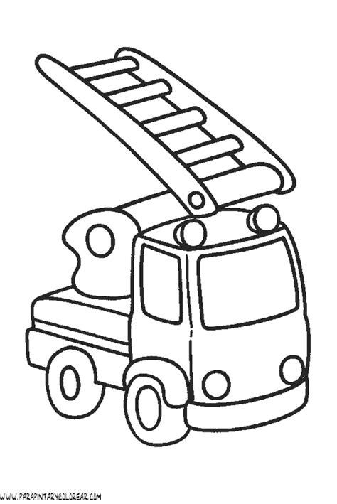 imagenes para colorear bombero dibujos para colorear de camiones de bomberos 004