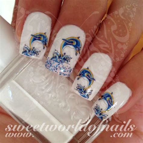 dolphin nail art dolphins nail water decals water