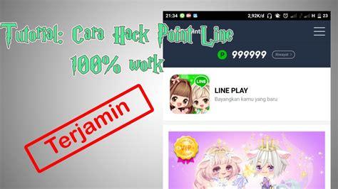 tutorial hack koin line tutorial cara hack point line 100 work youtube