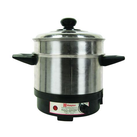 Panci Stainless Steel Maspion jual multi cooker panci listrik maspion mec 2750 cahaya terang electric