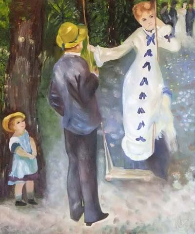 La Balancoire Renoir by Tableau Figuratif La Balan 231 Oire Inspir 233 E D Auguste