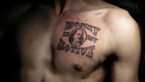 tattoo chest money benjamin franklin money chest tattoo gary quot fever quot weaver