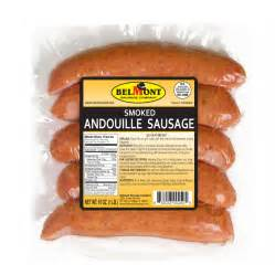 smoked andouille sausage 16 oz belmont sausage