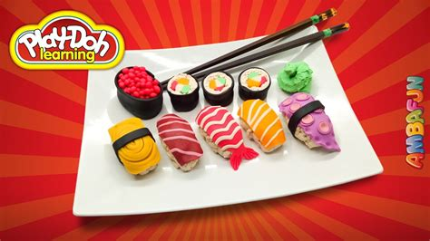 Sushi Set Doh sushi set how to make sushi rolls out of play doh