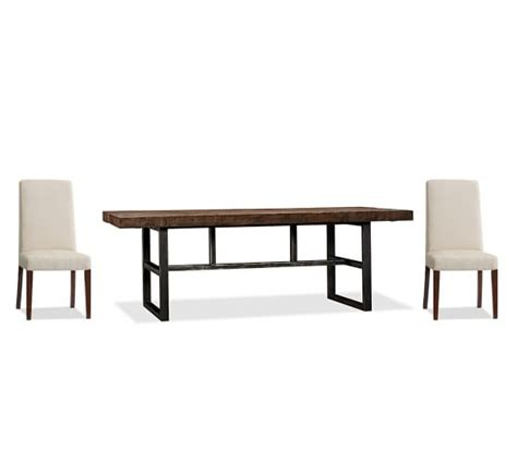 Pottery Barn Griffin Dining Table Griffin Fixed Dining Table Grayson Chair Set Pottery Barn