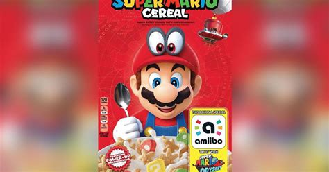 Official Super Mario cereal is coming to the U.S. (with amiibo functionality)