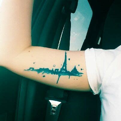 watercolor tattoos paris my skyline get tattooed
