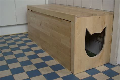 cat litter box furniture bench diy litter box bench petdiys com