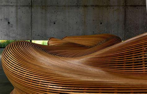 matthias pliessnig bench in steam bent white oak by matthias pliessnig
