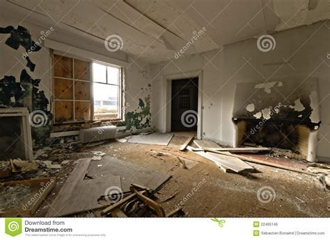 Inside View Of An Abandoned House Royalty Free Stock Image