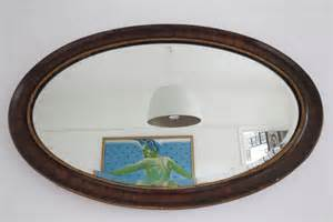 Large Wooden Vases Uk Large Vintage Oval Bevelled Bevel Wall Mirror With Wooden