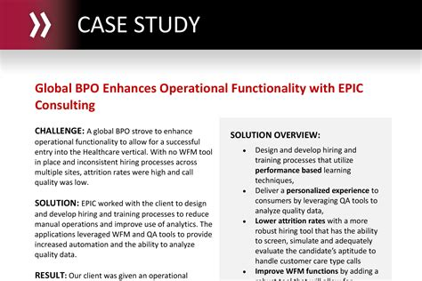 Epic Implementation Consultant by Global Bpo Enhances Operational Functionality With Epic Consulting Epic Connections