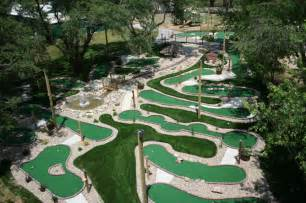 Strange miniature golf courses and putt putt holes