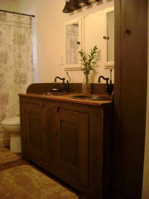 Primitive Bathroom Vanity 17 Best Images About Rustic Primitive Bathroom Redo On Pinterest Toilets Clawfoot Tubs And