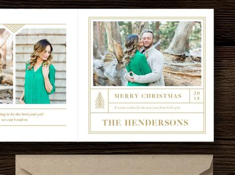 Instant Download Christmas Card Template 5x5 Trifold Design 5x5 Trifold Card Template