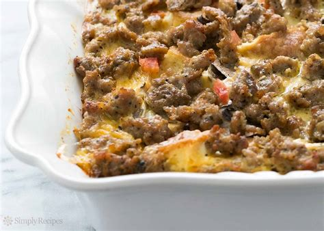 sausage breakfast casserole recipe simplyrecipes com