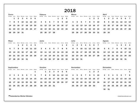 Calendario De 2018 Completo Gratis Calendarios Para 2018 Para Imprimir
