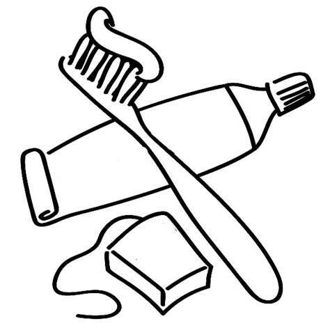free coloring pages of toothbrush and toothpaste