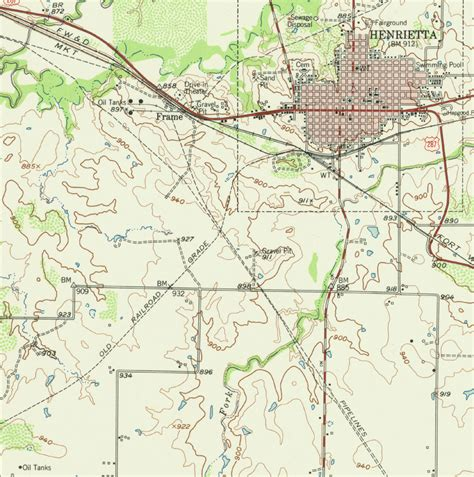 henrietta texas map southwestern railway company tex map showing abandoned route southwest of henrietta texas