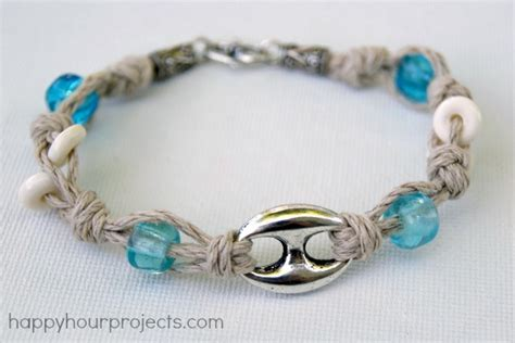 Different Knots For Hemp Bracelets - knotted hemp bracelet happy hour projects