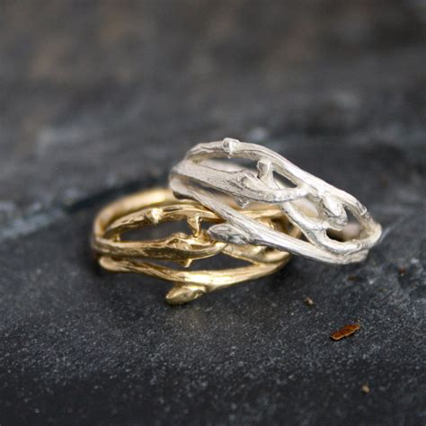 Twig Ring On Pinterest Branch Ring Twig Engagement | woodland branch twig wedding band or organic by opalwing