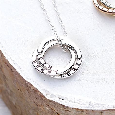 personalised russian ring necklace by posh totty designs