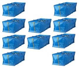 frakta shopping bag ikea 10 x large blue zippered bag shopping laundry storage