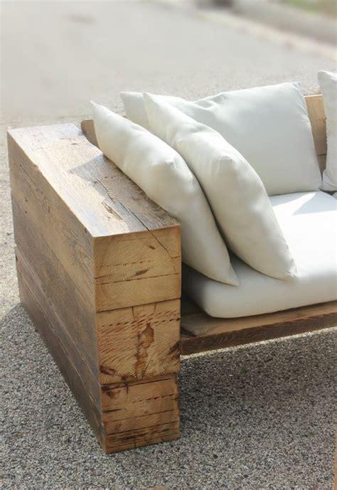 rustic reclaimed wood couch    indoorsoutdoors