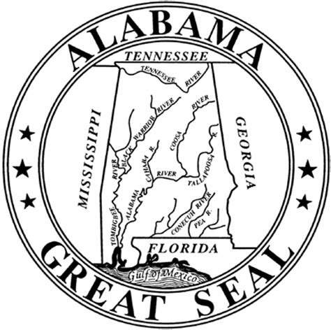 State Of Alabama Records Alabama Department Of Archives And History Emblems Great Seal