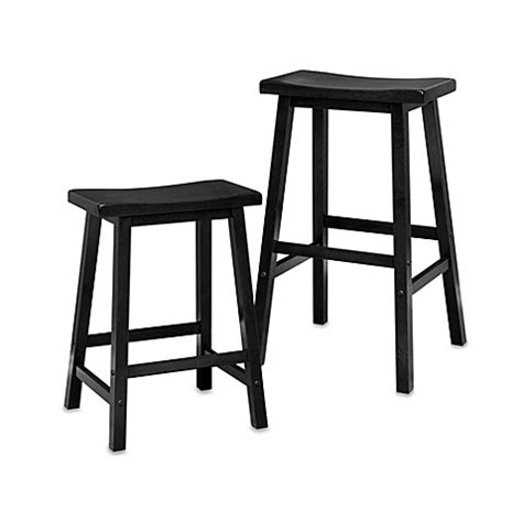 Bed Bath And Beyond Bar Stool Saddle Stool In Black Bed Bath Beyond